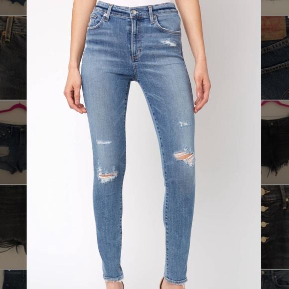 Agolde Denim - AGOLDE Sophie High Waisted Skinny Jeans